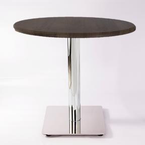 میز پایه استیل گرد
